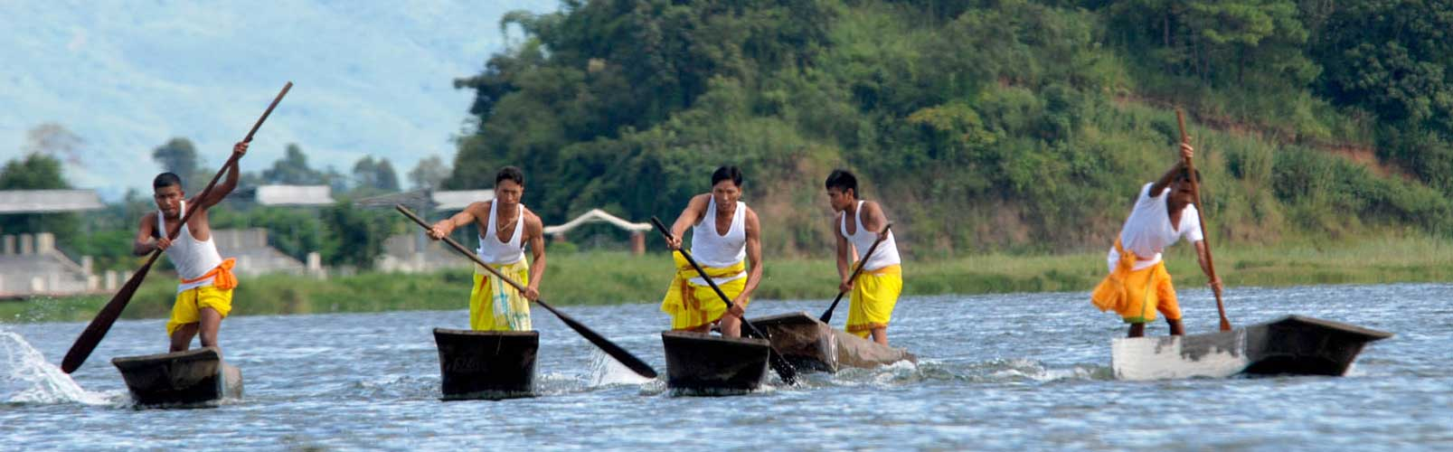 Manipur - Boat competition at Loktak Lake